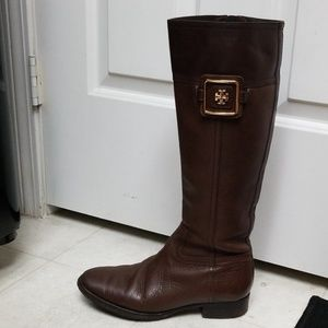 Gorgeous TORY BURCH riding boots brown leather